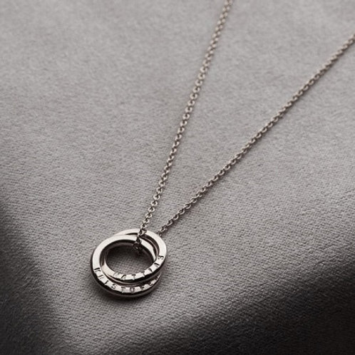 Double RUSSIAN RING necklace- Sterling silver