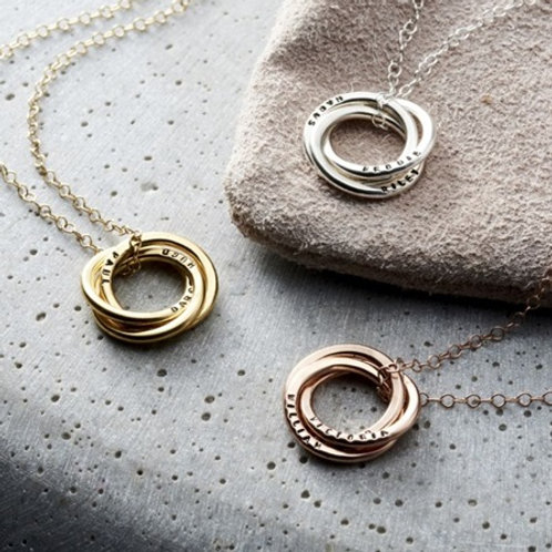 RUSSIAN RING necklace- 9k gold