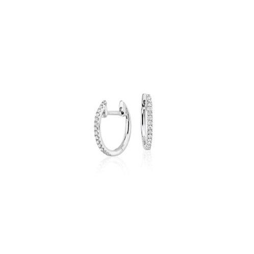 PETITE  Huggie- Sterling silver & gemstones