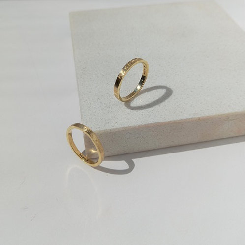WAVE ring- 9k gold