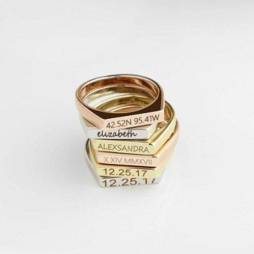 BAR ring-9k gold