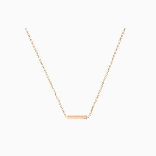 Mini BAR necklace- 9k gold