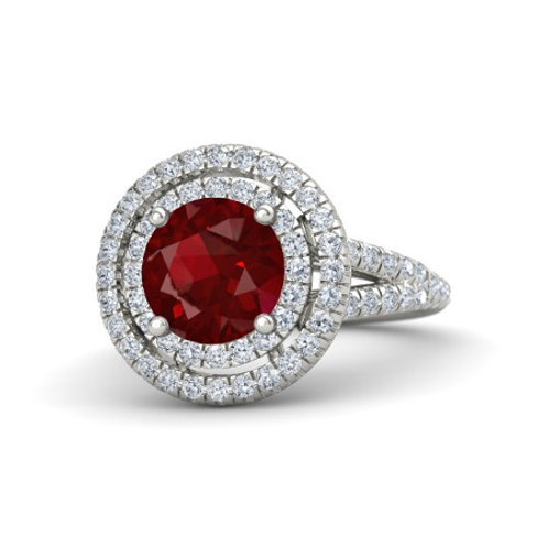 CHARLOTTE 18k Gold Ruby and Diamond Ring