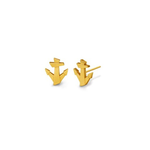 Lucky ANCHOR studs- 9k gold