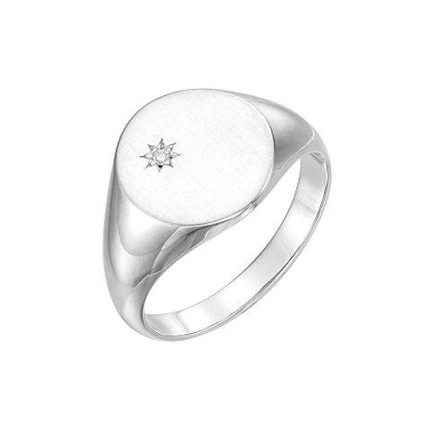 KENSINGTON signet ring- Sterling silver