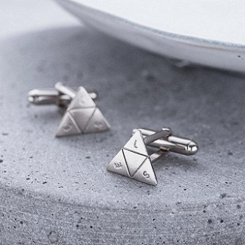 TRIANGLE cufflink_-Sterling silver