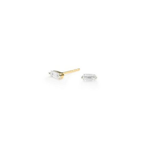 BAGUETTE Studs- 9k gold & gemstones