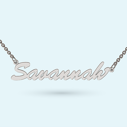 Classic Name Necklace- Sterling silver