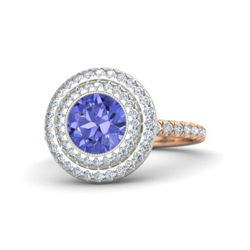 MONICA 18k Gold Tanzanite and Diamond Ring