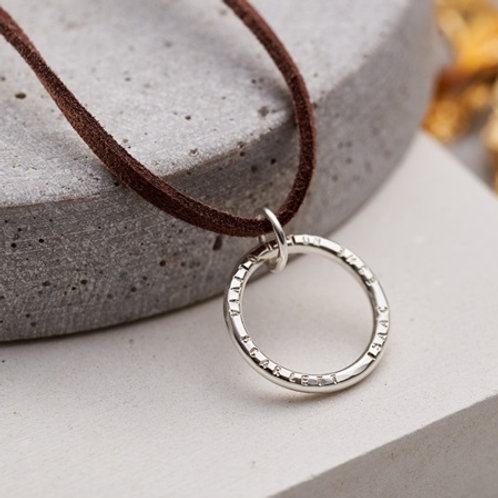 CIRCLE pendant- Sterling silver