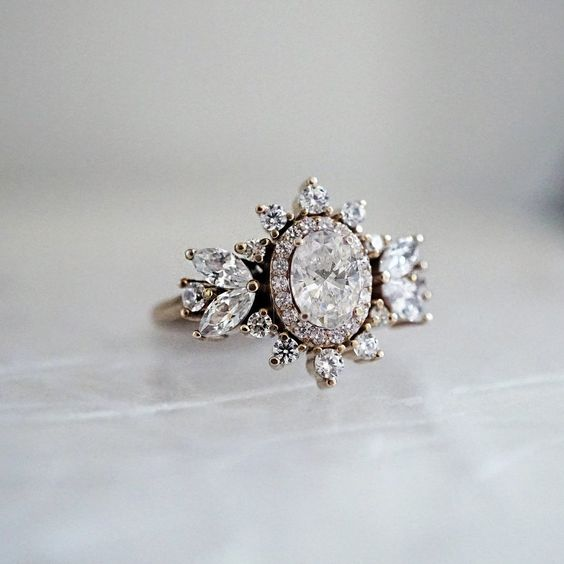 Coco Oval Diamond Ring_ Tipsy Taste Jewe