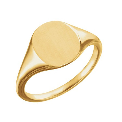 RACHEL signet ring- 9k gold