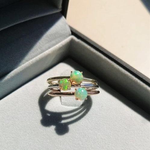 Tiny Opal Promise ring-9k gold