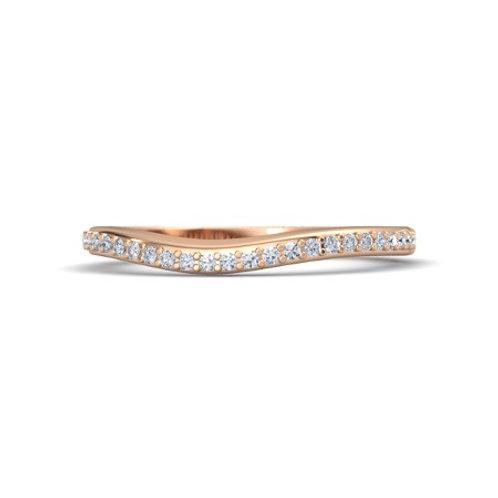 EMILY eternity ring- 9k gold &  diamonds