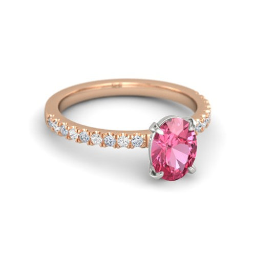 ALEXIA 18k Gold Pink Sapphire and Diamond Ring