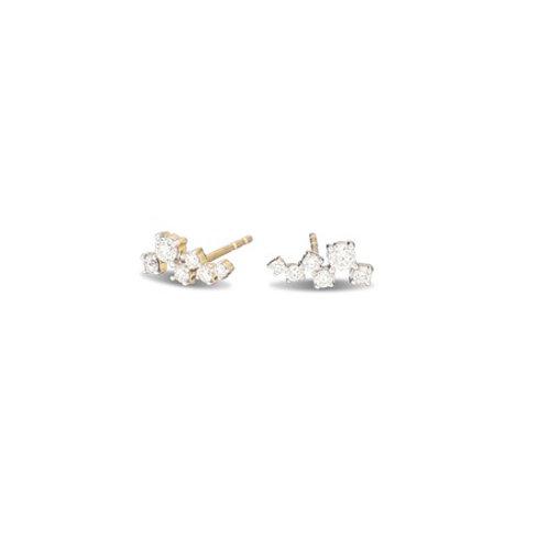 CONSTELLATION Studs-  9k gold & diamonds
