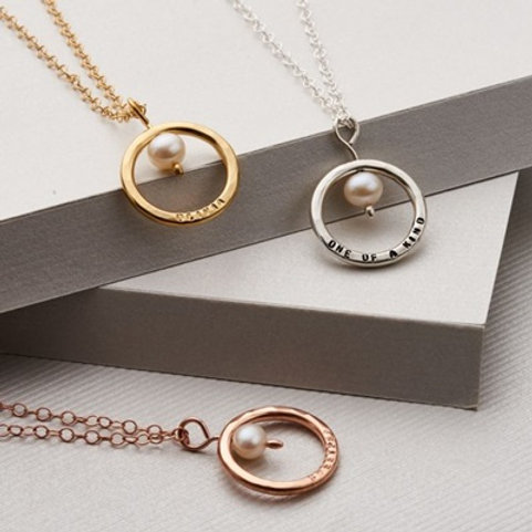 CIRCLE necklace- 9k gold