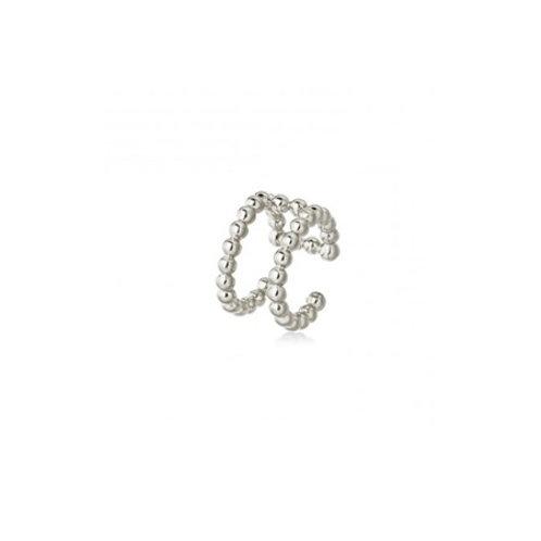 TWIN BEADED Ear Cuff- Sterling silver
