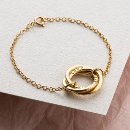 RUSSIAN RING bracelet- 9k gold