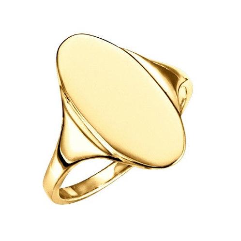 EVA signet ring- 9k gold