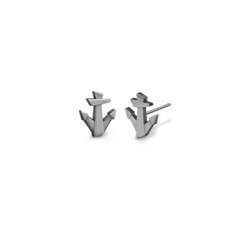 Lucky ANCHOR studs- Sterling silver