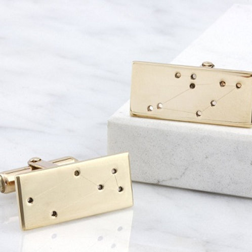CONSTELLATION cufflink- 9k gold