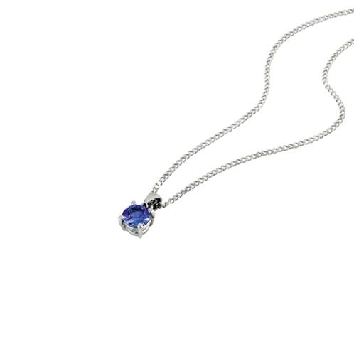 Solitaire necklace- 9k gold& Tanzanite