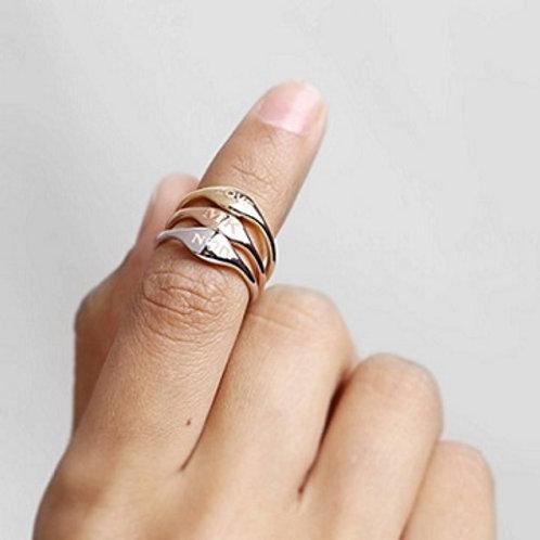 Mini SIGNET ring- 9k gold