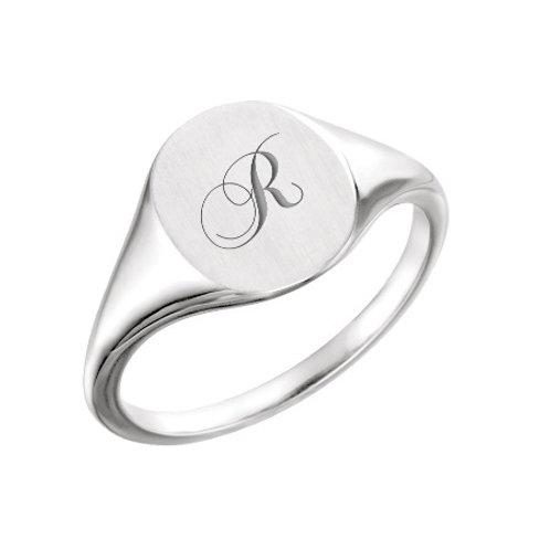 RACHEL signet ring- Sterling silver