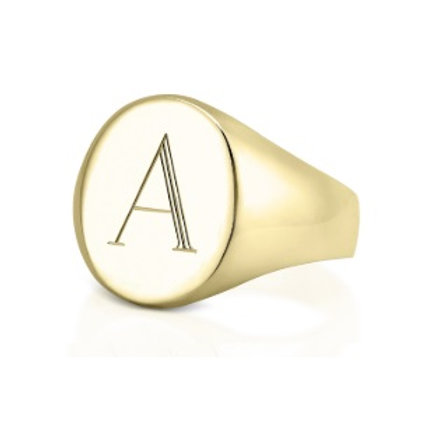 LUCY signet ring- 9k gold
