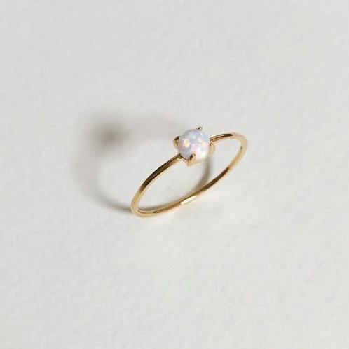 Tiny Opal Promise ring-9k gold