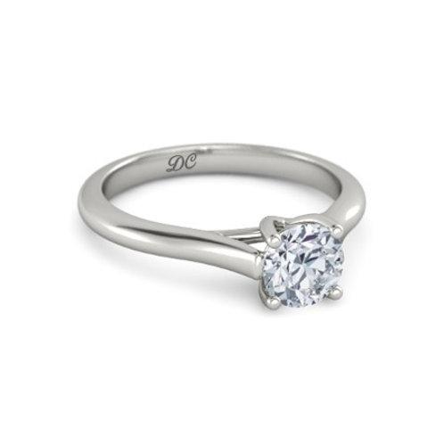 TIFFANY 18k Gold Diamond Engagement Ring