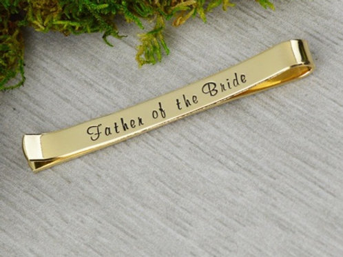 Father of the Groom/Bride TIE BAR- Brass