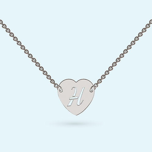 Intergrated Heart Necklace- 925 Sterling silver