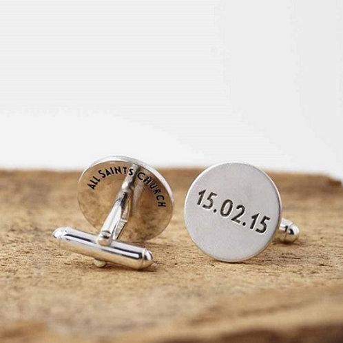 ROUND cufflink- Sterling silver