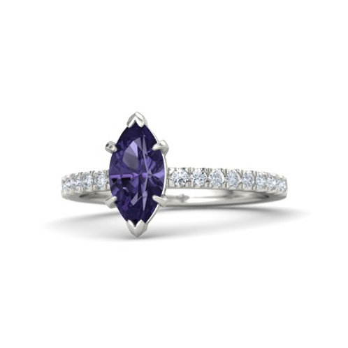 SHERA 18k Gold Iolite and Diamond Ring