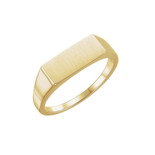 BERLIN signet ring- 9k gold