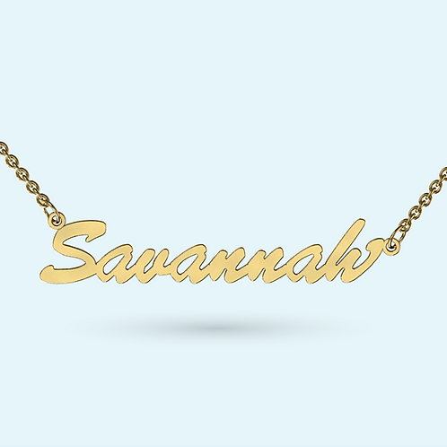 Classic Name Necklace- 9k Gold