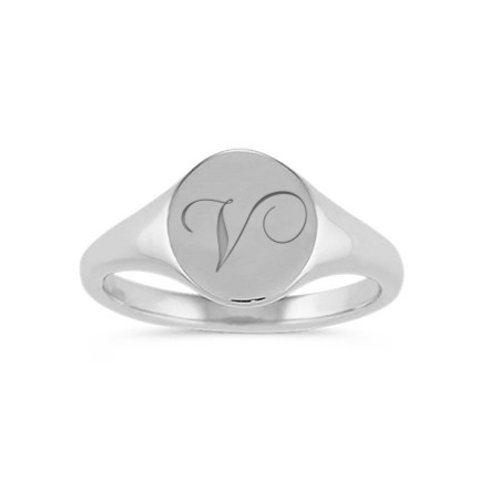 DEMI signet ring- Sterling silver