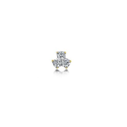 TRILOGY Studs- 9k gold & diamonds