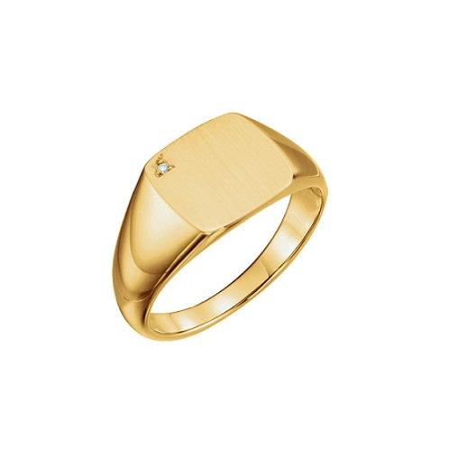LISBON signet ring- 9k gold