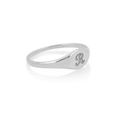 Mini SIGNET ring- Sterling silver