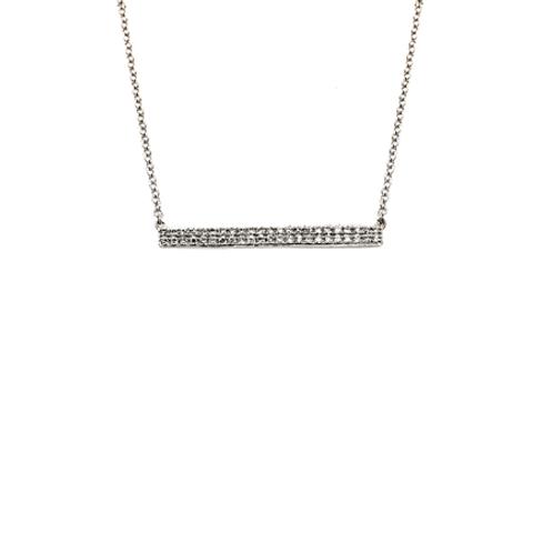 Horizontal Bar necklace- 9k gold & Diamonds