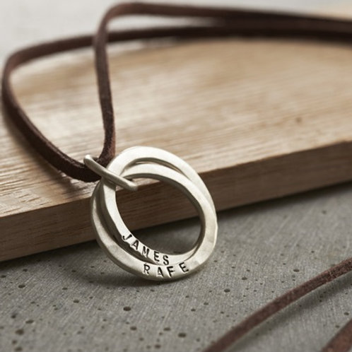 Double CIRCLE pendant-Sterling silver