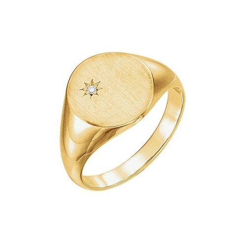 KENSINGTON signet ring- 9k gold