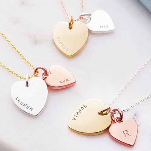 HEART necklace-9k gold