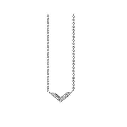 Mini CHEVRON necklace- Sterling silver