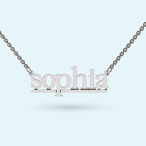 Underlined Name Necklace- 925 Sterling Silver