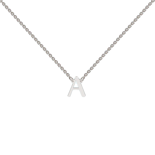 FLOATING INITIAL necklace- Sterling silver