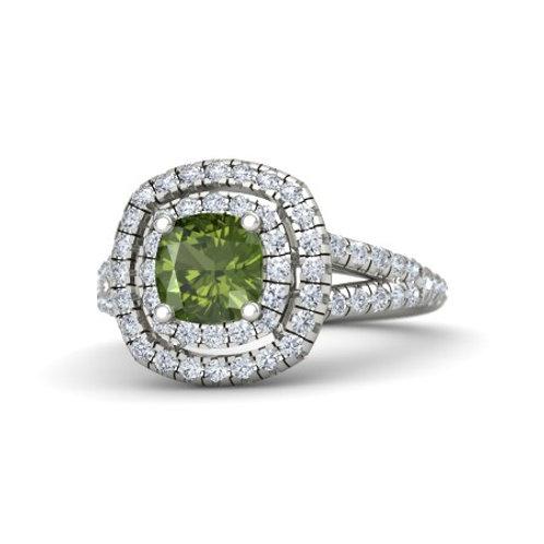 AMAL 18k Gold Tourmaline and  Diamond Ring